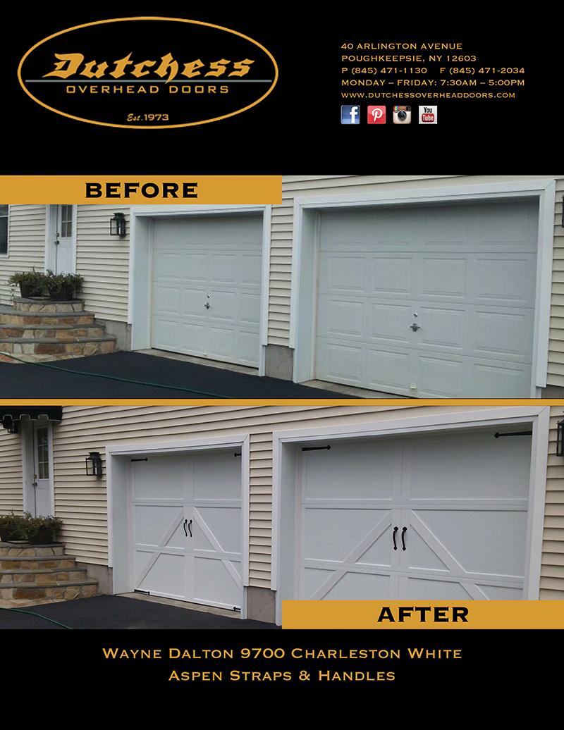 garage door before and after dutchess overhead doors. Black Bedroom Furniture Sets. Home Design Ideas