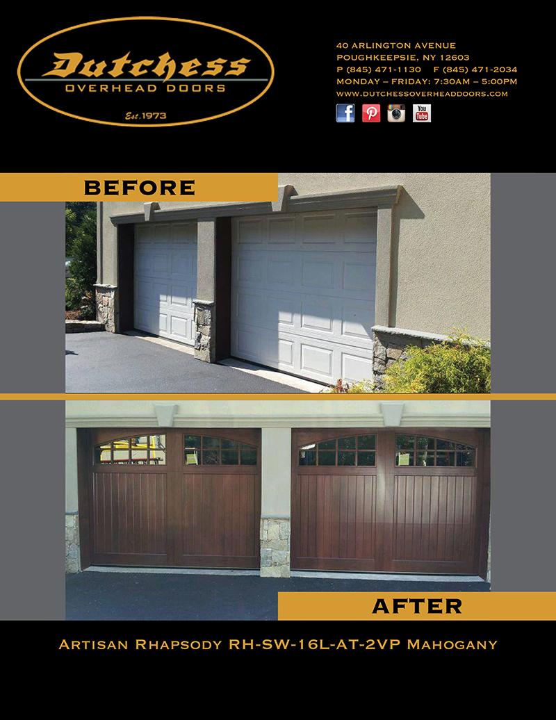 Garage Door Before And After Dutchess Overhead Doors