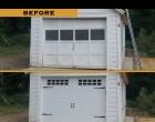 Raynor Showcase Carriage Panel White Stockton Ranch Windows Fluer de Lis Starps & Handles Rhinebeck