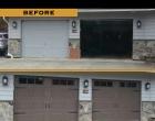 Raynor Showcase Carriage Panel Bronzetone Stockbridge Ranch Windows Fluer de Lis Straps & Handle