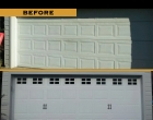Raynor Showcase Carriage Panel White Stockton Colonial Windows Fluer de Lis Handles