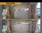Raynor Showcase Carriage Panel Claytone Arched Stockton Ranch Windows Fluer de Lis Straps & Handle